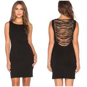 Amanda Uprichard NWT Stevie Fringe Dress in Black
